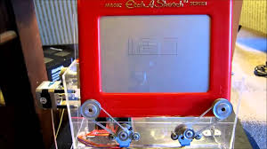 etch a sketch clock powered by arduino youtube