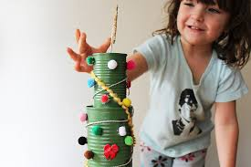 tin can christmas tree activity babble dabble do