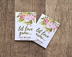 seed packet wedding favors seed packet favors etsy