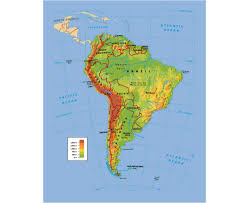 Parana River Map Maps Of South America And South American Countries Political