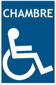 panneau de chambre panneaux handicapé chambre pmrsignalétique handicapés et pmr serenne