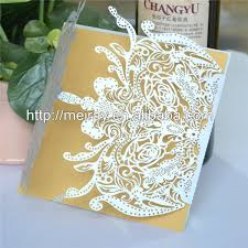 fancy indian wedding invitations china fancy laser cut wedding invitation card metallic gold indian