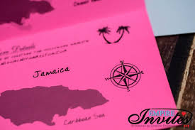 wedding invitations jamaica pink boarding pass wedding invitations to grand bahia jamaica