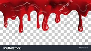 halloween transparent background dripping seamless blood flow liquid drip stock vector 501828136