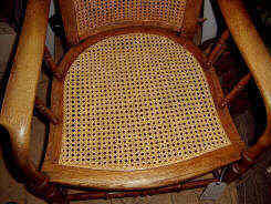 chair seating repairs to rush cane and wicker chairs