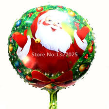 new santa claus christmas balloons holiday birthday party merry