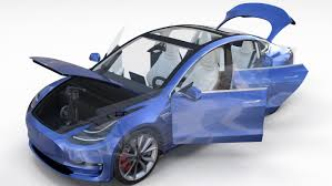 tesla model 3 interi model tesla 3 interior chassis