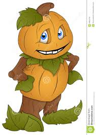pumpkin man cartoon character vector illustration stock photo