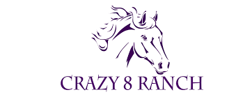 mustang horse logo crazy 8 ranch services