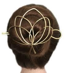 bun holder lotus hair bun holder brass hair cage hair holder gold u