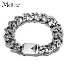 stainless steel bracelet links images Mcllroy 1314 cannabis men 39 s titanium men women jewelry bracelet jpg