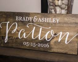 wedding gift name sign last name sign established sign name sign wedding gift