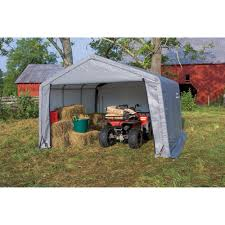 Canopy Storage Shelter by Shed In A Box 12 U0027 X 12 U0027 X 8 U0027 Peak Style Storage Shed Gray