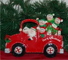Ornaments For Trucks Santa S Truck 4 Grandkids Tabletop Baby Ornament