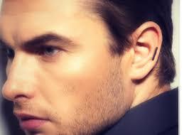 men earring helix piercing earring black stick earring for men ear