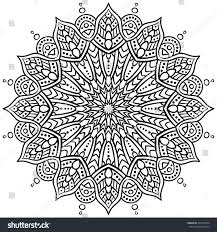 vector doodle flower mandala coloring book stock vector 443213794
