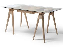bureau verre design bureau en bois design great dcoration bureau bois design with