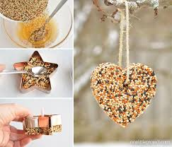how to make birdseed ornaments easy birdseed ornaments recipe