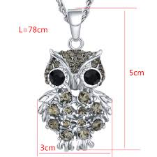 crystal owl necklace images Lemon value fashion charms rhinestone gold color owl pendants jpg