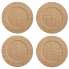 Wicker Paper Plate Holders Wholesale Amazon Com Charger U0026 Service Plates Home U0026 Kitchen
