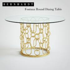 bernhardt round dining table 3d models table bernhardt fontana round dining table