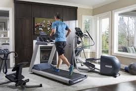 treadmill in living room work in some workout room right at home precor us