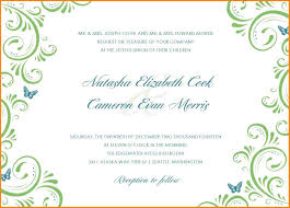 6 wedding invitation templates download artist resume