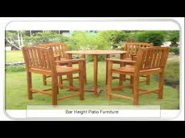 Bar Height Patio Chairs by Furniture Risers Bar Height Patio Furniture Youtube