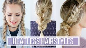 of the hairstyles images 3 days of heatless hairstyles hair tutorial youtube