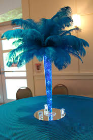 Table Decorations With Feathers Magnificent Centerpieces Feather Palm Tree Centerpiece