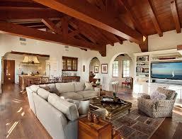 spanish style ranch homes hope ranch spanish style custom home family room mediterranean