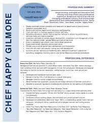 cover letter resume sample chef chef resume sample resume sample