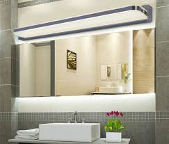 Glass Vanity Light Bathroom Vanities Lighting Stainless Steel Frame Clear Glass