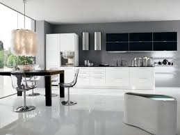 kitchen decoration contemporary open black and white throughout