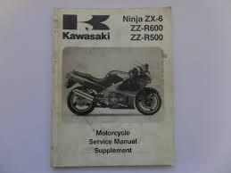 kawasaki zx6 zzr500 zzr600 factory workshop supplement manual