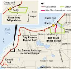 Uaa Map Detours On Anchorage Coastal Trail As Bridge Work Begins Alaska
