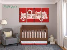 Firefighter Nursery Decor Truck Boys Nursery Sign Bedroom Sign Inspirational Bible