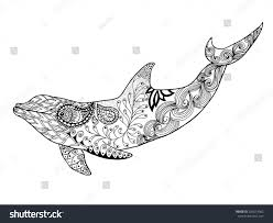 cute dolphin antistress coloring page stock vector 326614382
