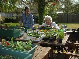 charming garden park nursing home with modern home interior design