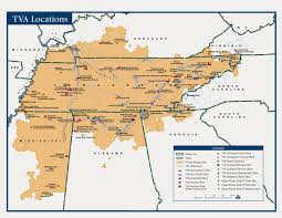 Map Of Tennesse Tennessee Valley And The Tennessee Valley Authority U2013 Landscapes