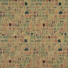 Textured Chenille Upholstery Fabric F856 Green Orange Blue Burgundy Geometric Chenille Upholstery