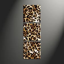 Leopard Home Decor 3 Piece Brown Wildlife Leopard Artwork