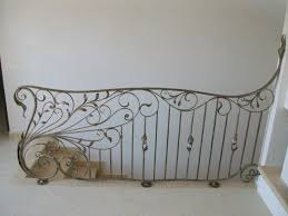 Decor  Tips Tile Flooring And Wrought Iron Railing With - Iron works home decor