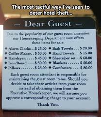 Funny Hotel Memes - stealing from a hotel dump a day