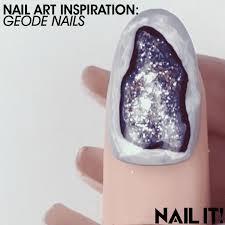 nail art inspiration geode nails nailitmag nailstyle