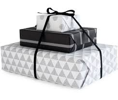 black gift wrap weekly wrap 140 black white gold graphic paper crave