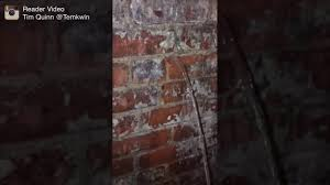 Brick Basement Walls Water Pouring Through Basement Walls In Detroit Youtube