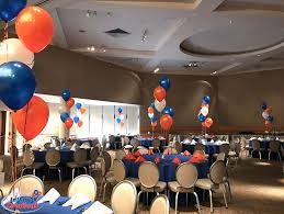 balloon delivery st louis balloon bouquets orange blue white bar mitzvah balloon bouquets
