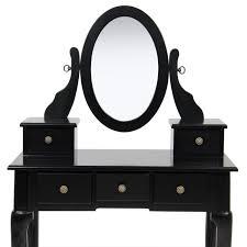Makeup Vanity Jewelry Armoire Bedroom Black Vanity Table For Elegant Bedroom Furniture Design