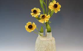 Fire Vase Appalachia Flower Brick Vase Fire Moss Pottery